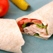 Stock Photo: Turkey wrap