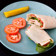Turkey wrap — Stock Photo