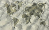 Map in sand — Stock Photo