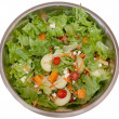 Salad bowl above — Stock Photo