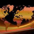 Orange world map — Stock Photo #2554629