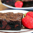 Chocolate fudge brownies — Stock Photo