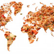 Leafy map of earth — Stock Photo