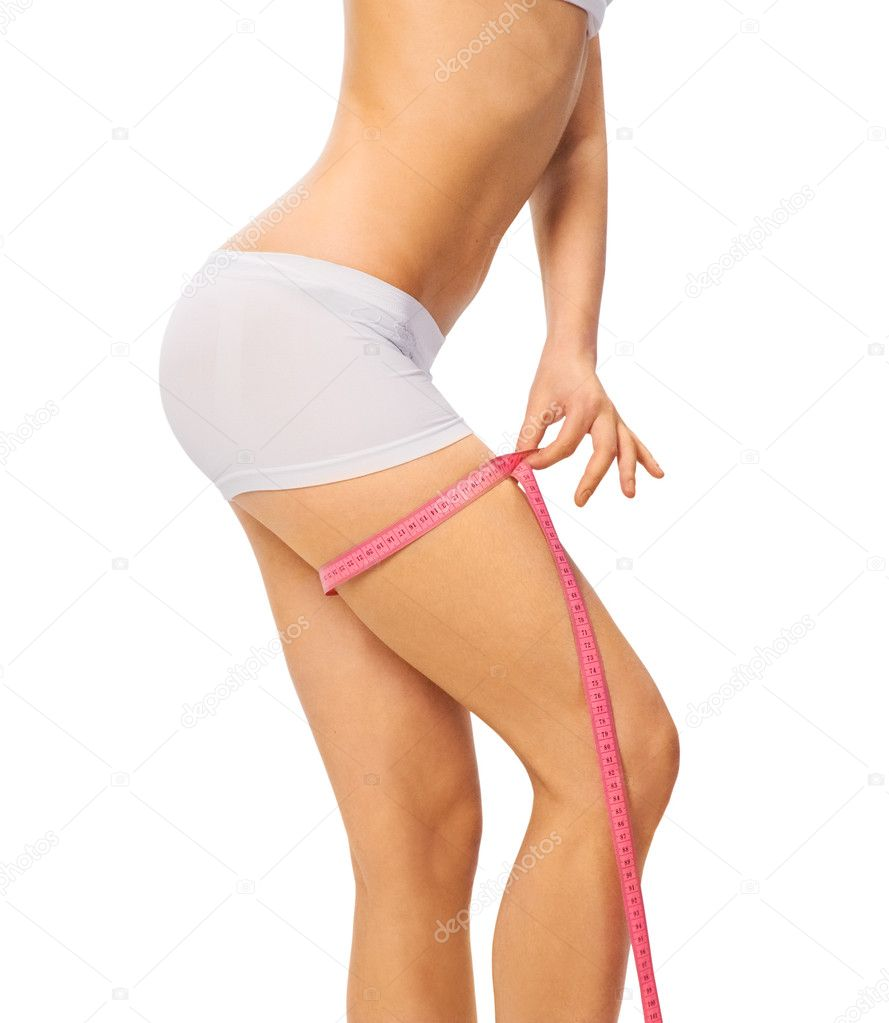 Woman showing how much weight she lost — Stock Photo #1897693