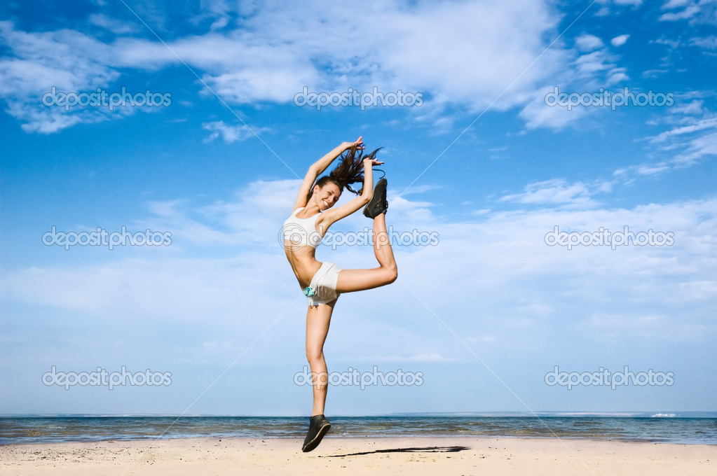 Jump for  health and youth — Stock Photo #1966490