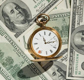 Time and Money concept image. — Foto Stock