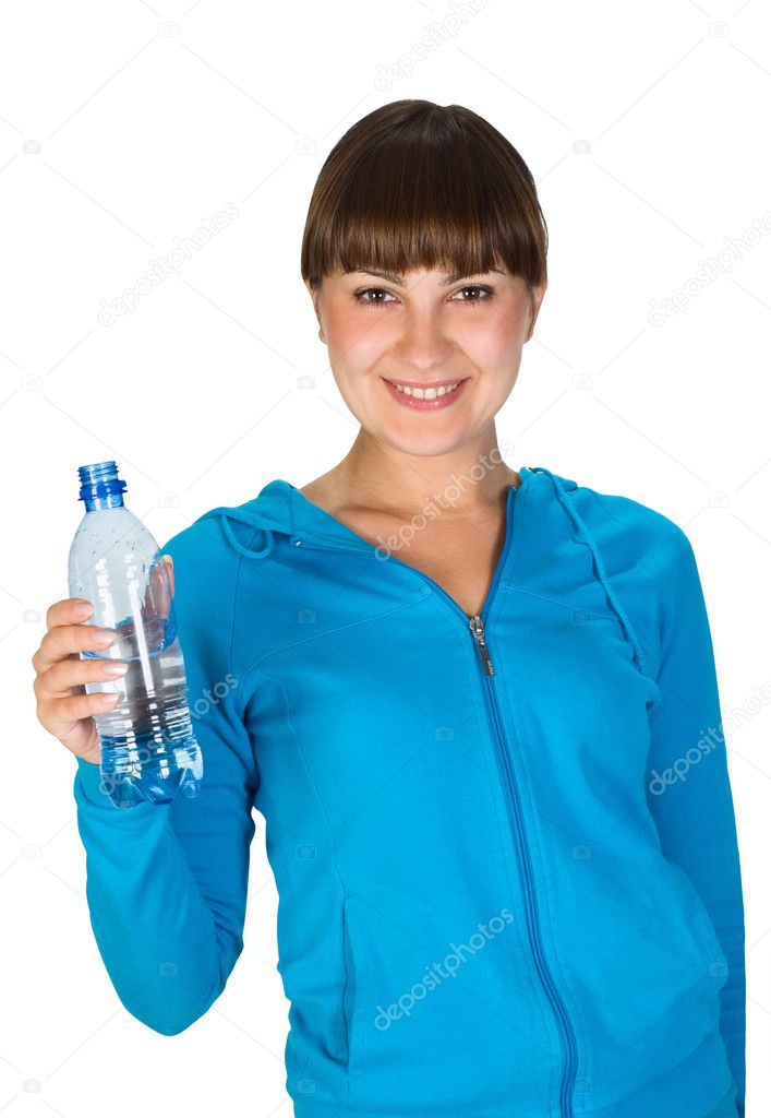   Young girl with bottle of water  Stock Photo #1991367