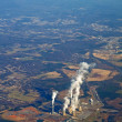 Stockfoto: Aerial view of power plant vertical