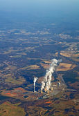 Aerial view of a power plant vertical — Stok fotoğraf