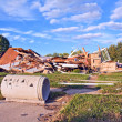 Debris at a demolition site — Stock Photo