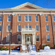 Building on college campus in winter — Stockfoto #2549908