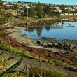 View of the waterfront at Victor Harbor - Stock Photo