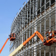 Foto Stock: Lifts at new construction site