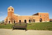 Edifício acadêmico no campus da faculdade — Foto Stock