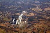 Vista aérea de una planta de energía — Foto de Stock
