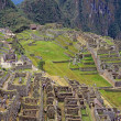 Foto Stock: View of ruins at Machu Picchu, Peru