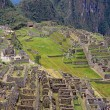 View of the ruins at Machu Picchu, Peru - Stock Photo