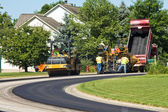 Laying new pavement — Foto Stock