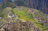 View of the ruins at Machu Picchu, Peru