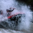 Stock Photo: Whitewater Rafting Action