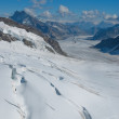 Stock Photo: Glacier, Jungfrau in Switzerland.
