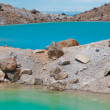 Stock Photo: Volcanic lake and volcanic Terrain