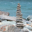Stock Photo: Small and cute rock tower, step by step