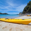 Stock Photo: Kayaking in beautiful ocean
