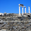 Stone ruin building, in Greece — Stock Photo