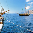 Corsair, Historic wooden sailboat — Stock Photo #2458669