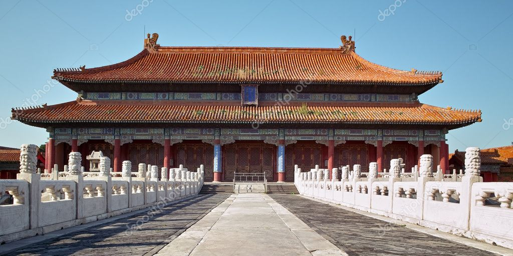 Historic chinese building with stone path and stairs in China  — Stok fotoğraf #2491887