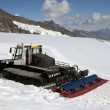 Stock Photo: Snowplow on top of Jungfrau