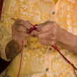 Knitting elder — Stockfoto