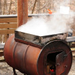 Stock Photo: Boiling down sap