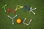 Golf ball thank you — Stock Photo