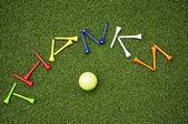Golf tee thanks — Stock Photo