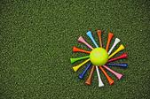 Golf tee spiral — Stock Photo
