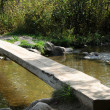 Itaska wooden bridge — Stock Photo