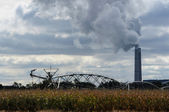 Smoke stack agriculture — Stock Photo