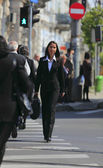 Businesswoman in the city — Stock Photo