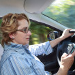 Female Driver — Stock Photo