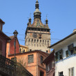 Clock Tower-Sighisoara,Romania - Stock Photo
