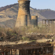 Heavy industry ruins - Stock Photo