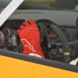 Rally driver detail — Stock Photo