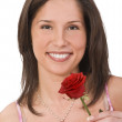 Woman with a rose — Stock Photo #1985946