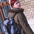 Redheaded girl student - Photo