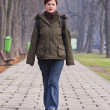 Teenager walking in a park — Stock Photo #2006668