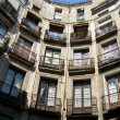 Barcelona balconys - Stock Photo