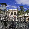 Main entrance to park guell — Stock Photo #1875870