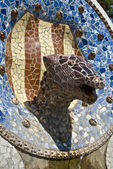 Tiled animal head — Stock Photo
